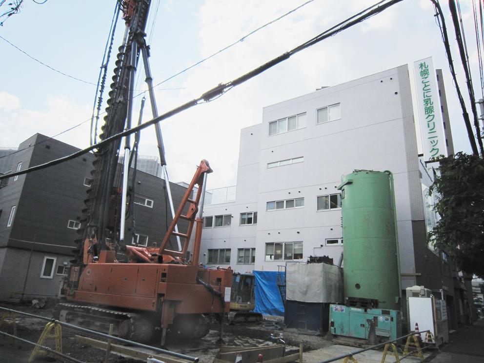 増築棟の建設工事が始まりました